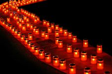 Free Candles Diagonal Stock Photography - 2772512