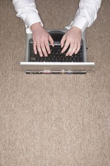 Businessman On Laptop Stock Image