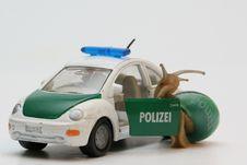 Free Policeman Snail Stock Photography - 2772952