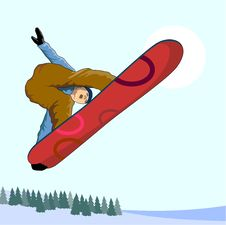 Free Snowboarder Getting Big Air Stock Photos - 2773693