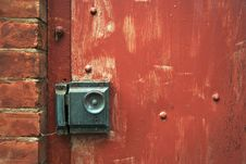 Free Close-up Of Doorknob And Brick Royalty Free Stock Image - 2774396