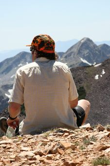 Free Hiker With View  Hunter Royalty Free Stock Photo - 2774695