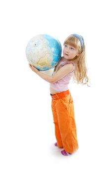 Free Girl Globe Stock Images - 2774764