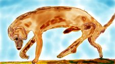 Free Doggy Painting Royalty Free Stock Photography - 2774887