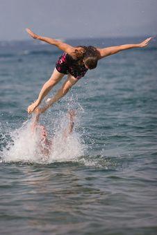 Free Woman Diving Stock Photos - 2775033