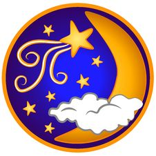 Moon Shooting Stars Clip Art Royalty Free Stock Photography