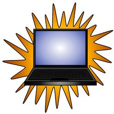New Laptop Computer Clip Art Stock Photos