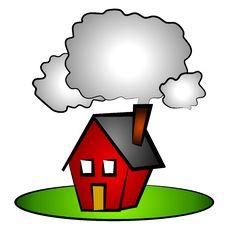 House Chimney Smoke Clip Art