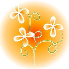 Free Unique Flowers Clip Art Orange Royalty Free Stock Images - 2776089