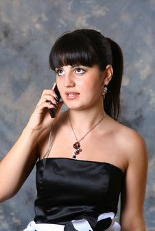 Free Beauty Girl Calling By Phone Royalty Free Stock Photos - 2776348