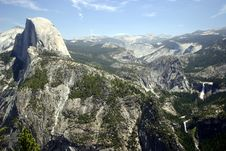 Free Half Dome From Glacier Point Royalty Free Stock Photo - 2777165