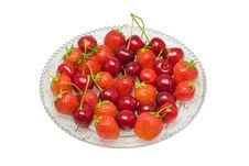 Free Strawberries Cherries Isolated Royalty Free Stock Image - 2777686