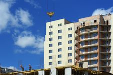 Construction Of Residential Bu Royalty Free Stock Images