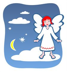 Free Angel On A Cloud Royalty Free Stock Photo - 2779615