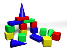Free Building Cubes For Children Royalty Free Stock Images - 2779809