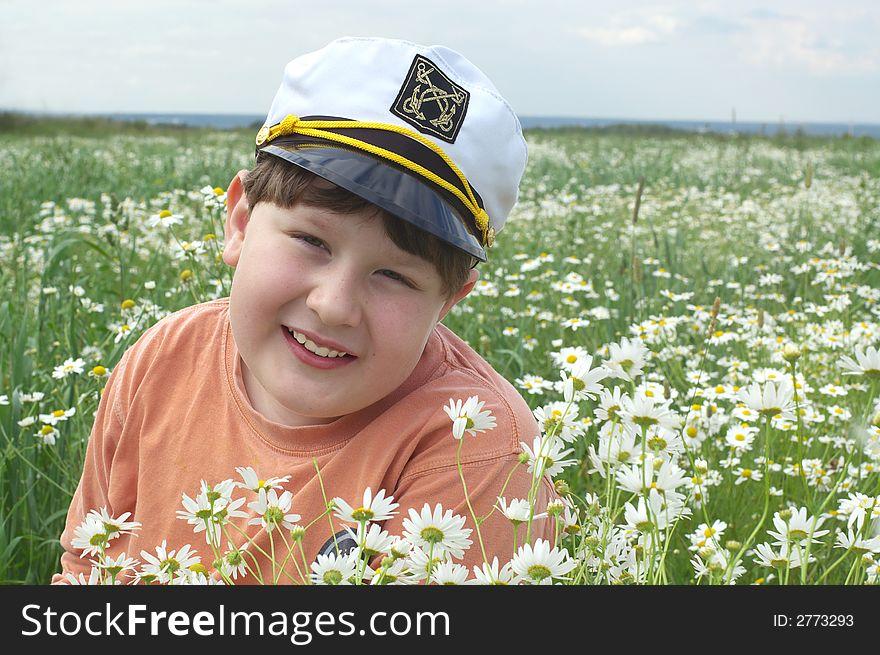 Young boy - summer postrait