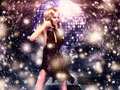 Free Girl In Red Dress On Disco Stock Images - 27701794