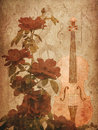 Free Roses And Violin Royalty Free Stock Photos - 27701838