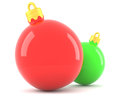 Free Red And Green Christmas Baubles Royalty Free Stock Photo - 27707265