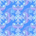 Free Blue And Violet Waves Seamless Background Royalty Free Stock Photography - 27708477