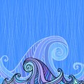 Free Blue And Violet Waves Background Stock Image - 27708531