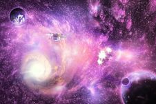 Free Bright Space Galaxy Stock Image - 27701781