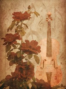 Free Roses And Violin Royalty Free Stock Photos - 27701838