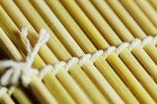 Free Bamboo Mat Closed-up. Royalty Free Stock Images - 27703449