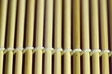 Free Bamboo Mat Closed-up. Stock Photo - 27703480