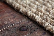 Free Rope On Wood Royalty Free Stock Photography - 27704687