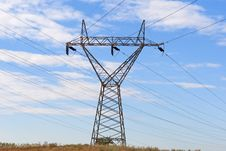 Electricity Pillars Stock Images