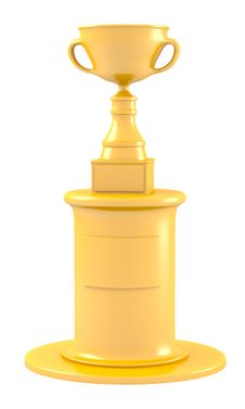 Cup On Golden Pedestal Royalty Free Stock Photo