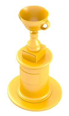Free Cup On Golden Pedestal Royalty Free Stock Image - 27708216