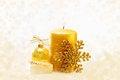 Free Golden Christmas Ornaments Stock Photo - 27713040