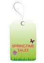 Free Springtime Sales Tag Stock Photo - 27714400