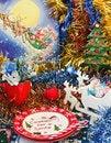 Free Christmas Table Arrangement Stock Photos - 27715093