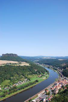 Free View Landscape Elbsandsteingebirge Royalty Free Stock Images - 27713879