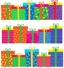 Free Gift Set Royalty Free Stock Photos - 27714588