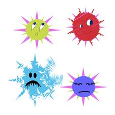 Free Germs And Bugs Bacterium Vector Comic Stock Photography - 27714852