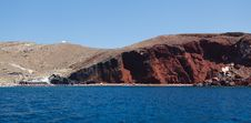 Free Red Beach In Akrotiri. Santorini. Greece. Stock Photos - 27714853
