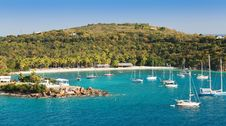 Beach Lagoon In St. Thomas, USVI Stock Image