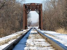 Free Rusted Railway Bridge Royalty Free Stock Photos - 27718408