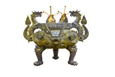 Free Chinese Historic Sculptured Ashtray Stock Image - 27718421