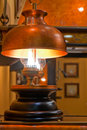 Free Old Kerosene Lamp With Copper Shade Stock Images - 27720344