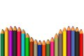 Free Colored Pencils Line Up In Curved Row Royalty Free Stock Images - 27720409