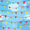Free Celebration Flags Royalty Free Stock Image - 27720786