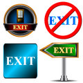 Free Exit Logo Set Royalty Free Stock Photos - 27722818