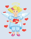 Free Angel With Heart Stock Photo - 27726090