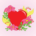 Free Floral Heart Stock Image - 27727951