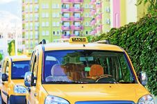 Free City Taxi In Turkey Stock Image - 27720381